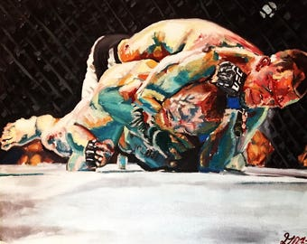 Not Surprised ufc 202 oil painting