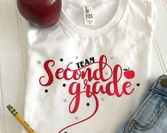 Team Second Grade Shirt, Back to School Shirt, School Shirt,Teacher Shirt, Kids Shirt, First Day Of School, 2nd Grade Shirt, Kindergarten