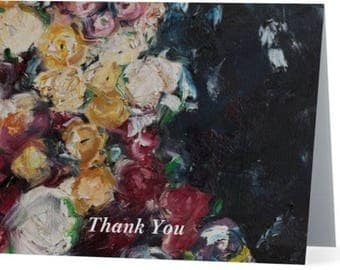 Balboa Roses Thank You Cards