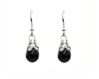 925 Solid Sterling Silver Butterfly Amethyst Briolette Earrings