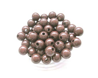 25 pacifier 12mm - chocolate wooden beads