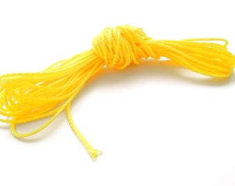 Polyester yarn - cord pacifier 1.5 mm-yellow