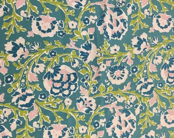 Ralph Lauren Home out door fabric floral print blue and pink