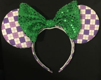 Alice In Wonderland Mad Hatter Cheshire Cat Inspired Mouse Ears