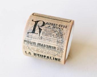 Vintage Newspaper Washi Tape/Striped Washi / Masking tape/ japanese washi tape/Planner Supplies