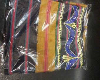 New Elegant Embroidered  Yoruba Aso Oke Head Tie 1pcs