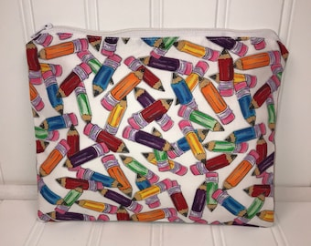 Colored Pencil Pouch | Handmade Zipper Pouch