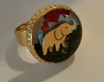 Elephant ring, Lover Elephant Ring, Gold Elephant Ring
