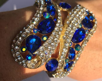 Regal Royal Blue Cuff Bracelet