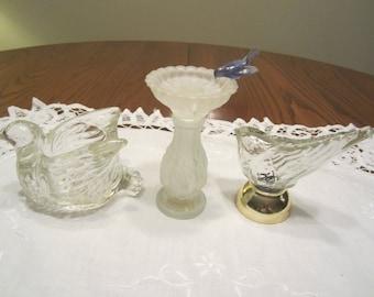 Vintage Avon Bird Perfume Bottles
