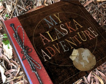 Alaska Adventure Book Handmade and Personalized