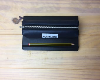 Faux Leather Pencil Case - Navy
