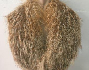 Beautiful Real Natural Golden Island Fox Fur Collar