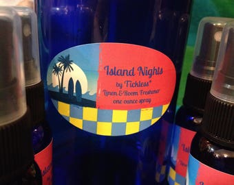 Island Nights Linen & Room Freshener by Tickless* one ounce spray