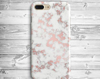 White Rose Marble iPhone 7 Plus Case iPhone 6 Plastic Case iPhone SE Marble Case iPhone 7 Case Samsung Galaxy S5 S6 S7 Edge Pink Marble Case