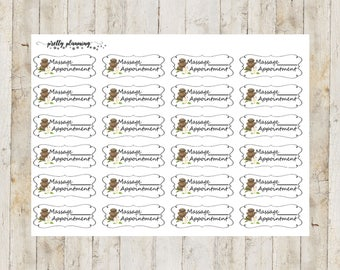 Massage Appointment Stickers by Pretty Planning! Colorful and fun stickers ideal for planning your life!