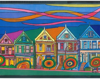 Houses. Film High resolution photography of the original painting. Limited series. Various sizes.