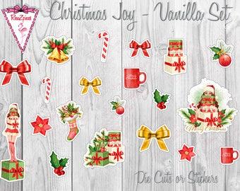 Christmas Joy - Die Cut / Sticker Set