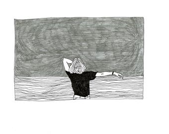 sea girl | printed illustration