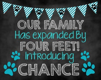 New Puppy Announcement, New Puppy Sign, Puppy Chalkboard