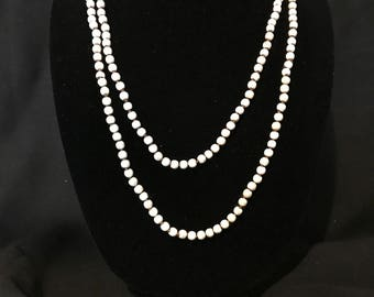 White Turquoise beaded necklace