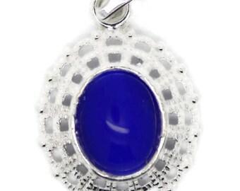 cat eye pendant, blue pendant, pendant for child, child jewelry pendant, small pendant, attractive small pendant