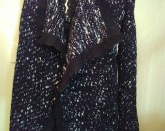 Black and white mottled color mesh vest