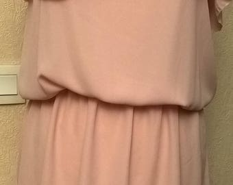 Dress with straps dusty pink
