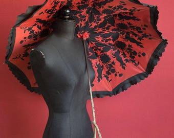 Amazing 20's Vintage Umbrella double layer lining