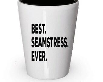 Seamstress Shot Glass, Best Seamstress Ever, Seamstress gift, Gift for Seamstress , Birthday Gift, Christmas Present