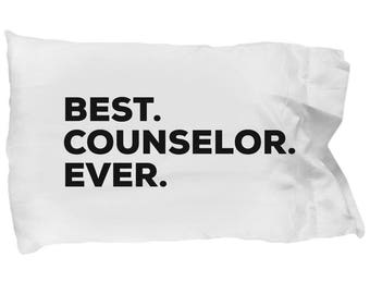 Counselor Pillow Case, Gifts For Counselor, Best Counselor Ever, Counselor Pillowcase, Christmas Present, Counselor Gift