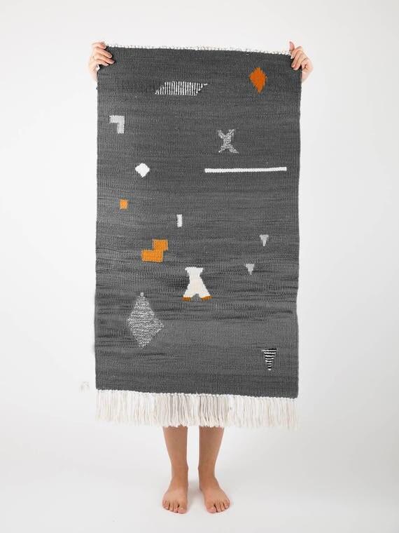 SHAPES gray | Handwoven kilim