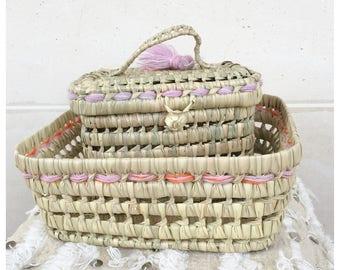 Basket + wicker basket