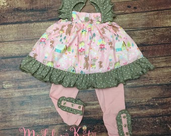 Baby Girls Clothing, Vintage Goldilocks Outfit, Baby Girls Outfit, Baby Girls Peek-A-Boo Leggings