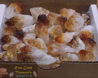 Citrine Points Collection Gold Yellow Geode Crystals