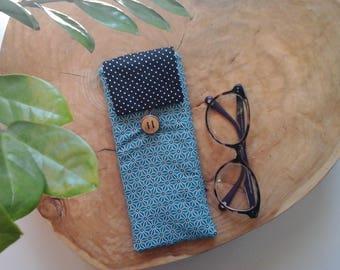 in fabric glasses case