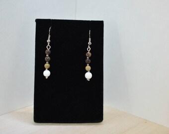 Multi Color Natural Gemstones Earings