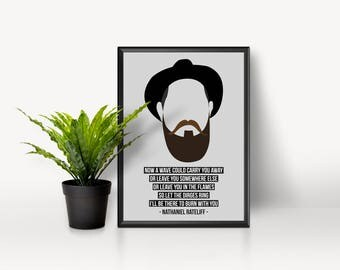 Nothing to show for it - Nathaniel Rateliff - A4 Poster - High Gloss