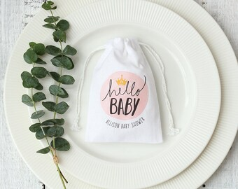 10 custom printed drawstring bags Personalized Baby Shower favor Bag candy packaging bags custom cotton party favor bags gift packaging bag