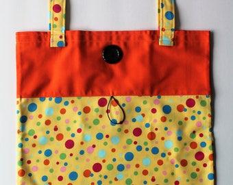 Take Along Tote Book Bag Library Bag Road Trip Travel Fun Take along Fold Up Tote School Bag Diaper Tote
