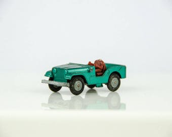 Vintage Husky Models # 5 Jeep 1/64 Scale Diecast - Made in GT Britain