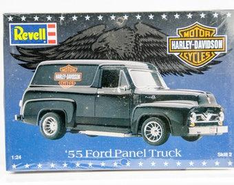 Sealed Vintage Revell Harley Davidson 1955 '55 Ford Panel Truck 1/24 Model Car