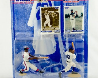 Starting Lineup Classic Doubles MLB Hank Aaron Jackie Robinson Action Figure
