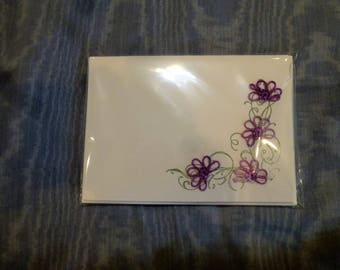 Packet of 4 hand tatted cards with envelopes