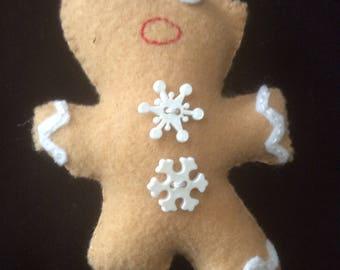 """5"""" Felt Gingerbread Ornament"""