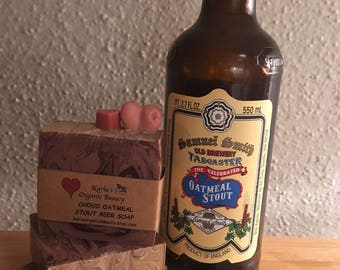 Valentine's Beer Soap-Oatmeal Stout Beer-handmade soap