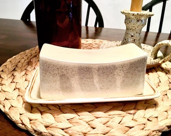 Ceramic butter dish | Vintage butter dish
