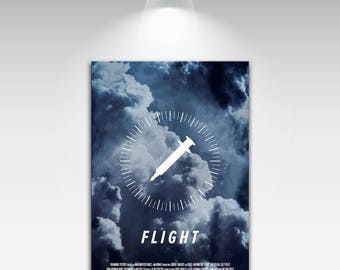 Movie Posters for Flight Art Print on Canvas Home Wall Decor