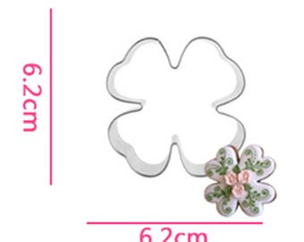 Floral Clover Cookie Cutter - Fondant Biscuit Mold - Pastry Baking Tool Set