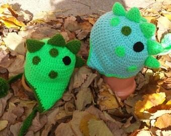 Dinosaur Hat knitting for children